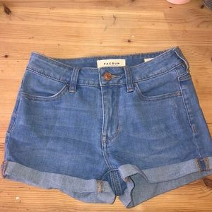 new pacsun jean shorts